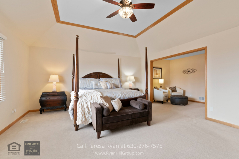 Home for sale in Naperville IL- At the end of the day, nothing beats the comfort and relaxation of the master suite of this Naperville IL home.