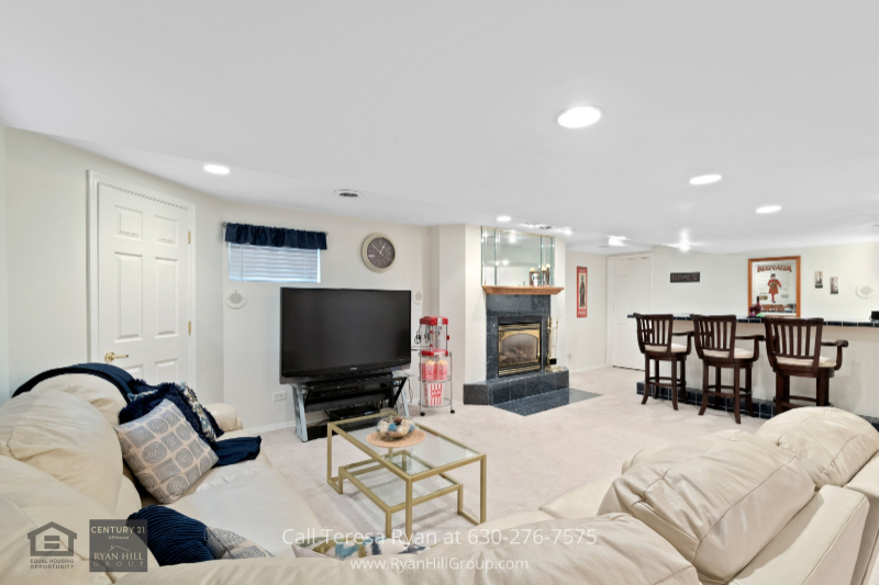 Real estate for sale in Naperville IL- There is no better place to entertain than in the finished basement of this Naperville IL home.