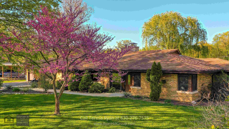Homes in Bensenville, IL - Go for a morning stroll or jog on the partial cement walkway surrounding the large pond in this home in Bensenville, IL