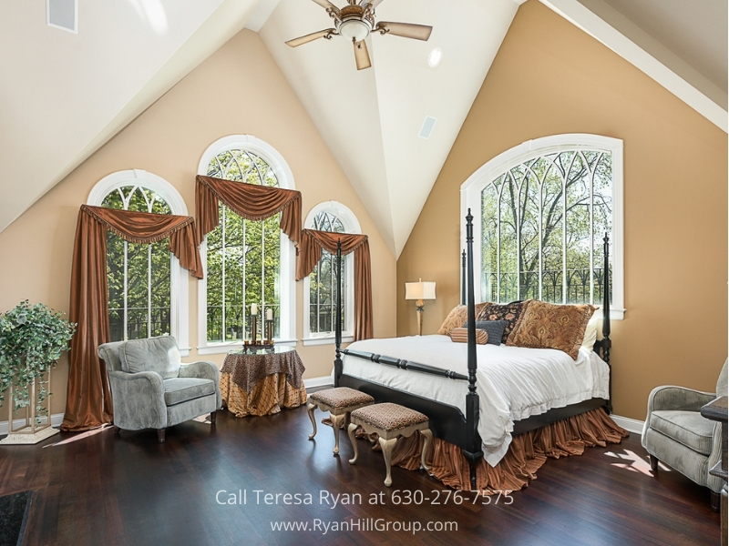 Luxury home for sale in Naperville IL- Turn the gorgeous master suite of this Naperville luxury home into your personal haven.