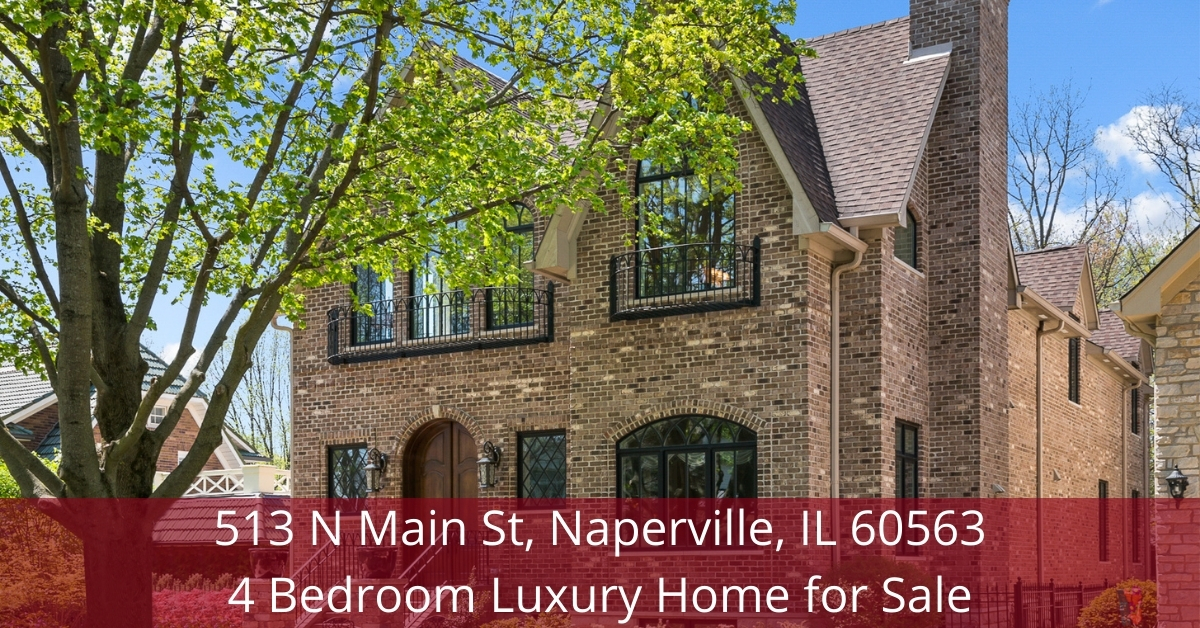 Luxury home for sale in Naperville IL- Experience your own slice of heaven in this beautiful luxury home for sale in Naperville IL.