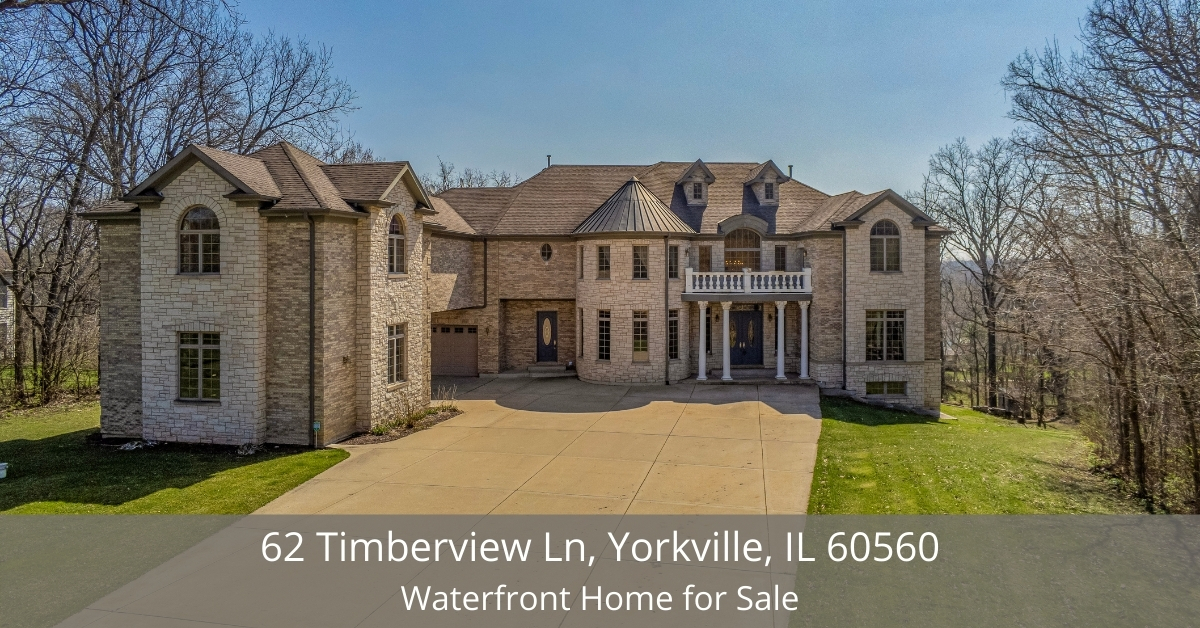Homes for sale in Yorkville IL - Invest in this private luxury estate with water and pond rights, a stocked pond, and a home with beautiful architecture fit for royalty!