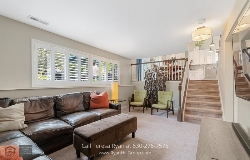 Real Estate Properties for Sale in North Aurora, IL - This North Aurora, IL family room is a great entertainment space for you and your loved ones!