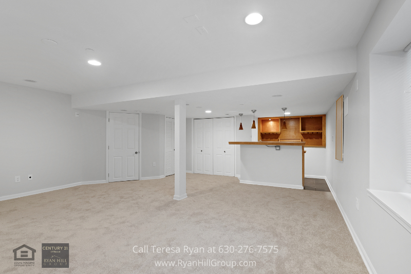 Streamwood IL real estate for sale- Gather your friends and family to cheer on your favorite team in the finished lower level of this Streamwood IL home.
