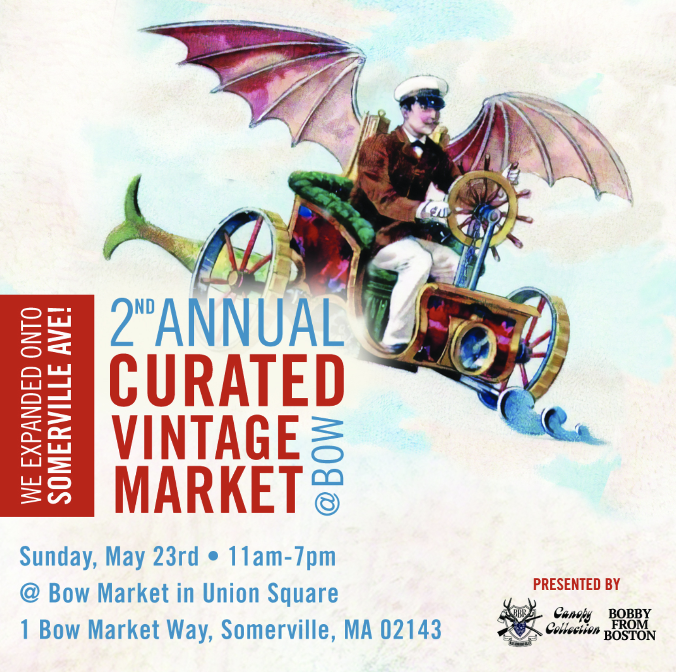 Curated Vintage Market at Bow Market, Somerville