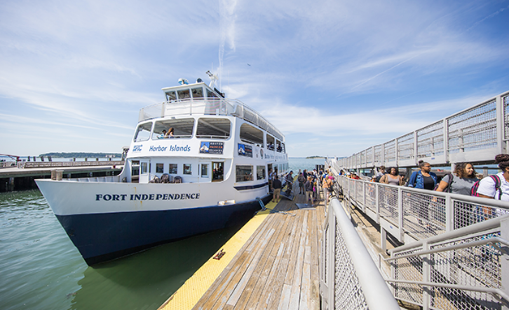 Ferry to Boston's Spectacle Island
