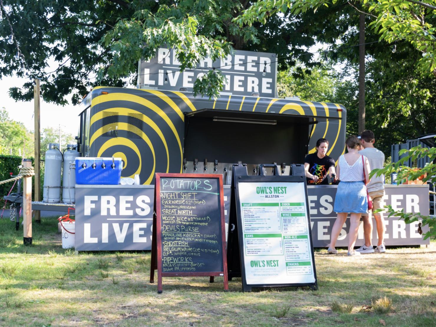 Owl's Nest Beer Garden along Charles River