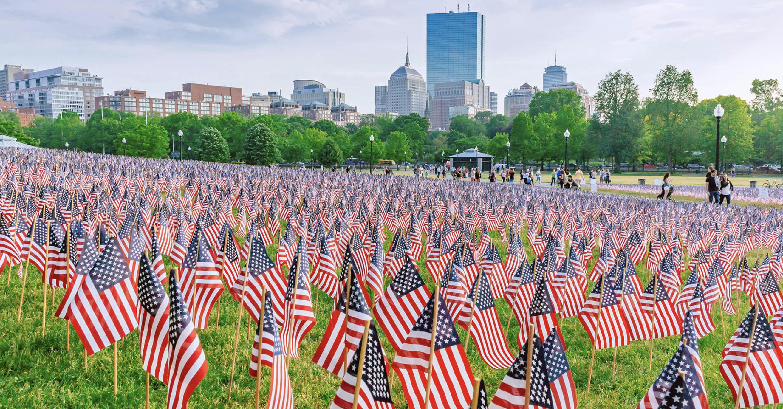 Memorial Day Garden of Flags on Boston Common