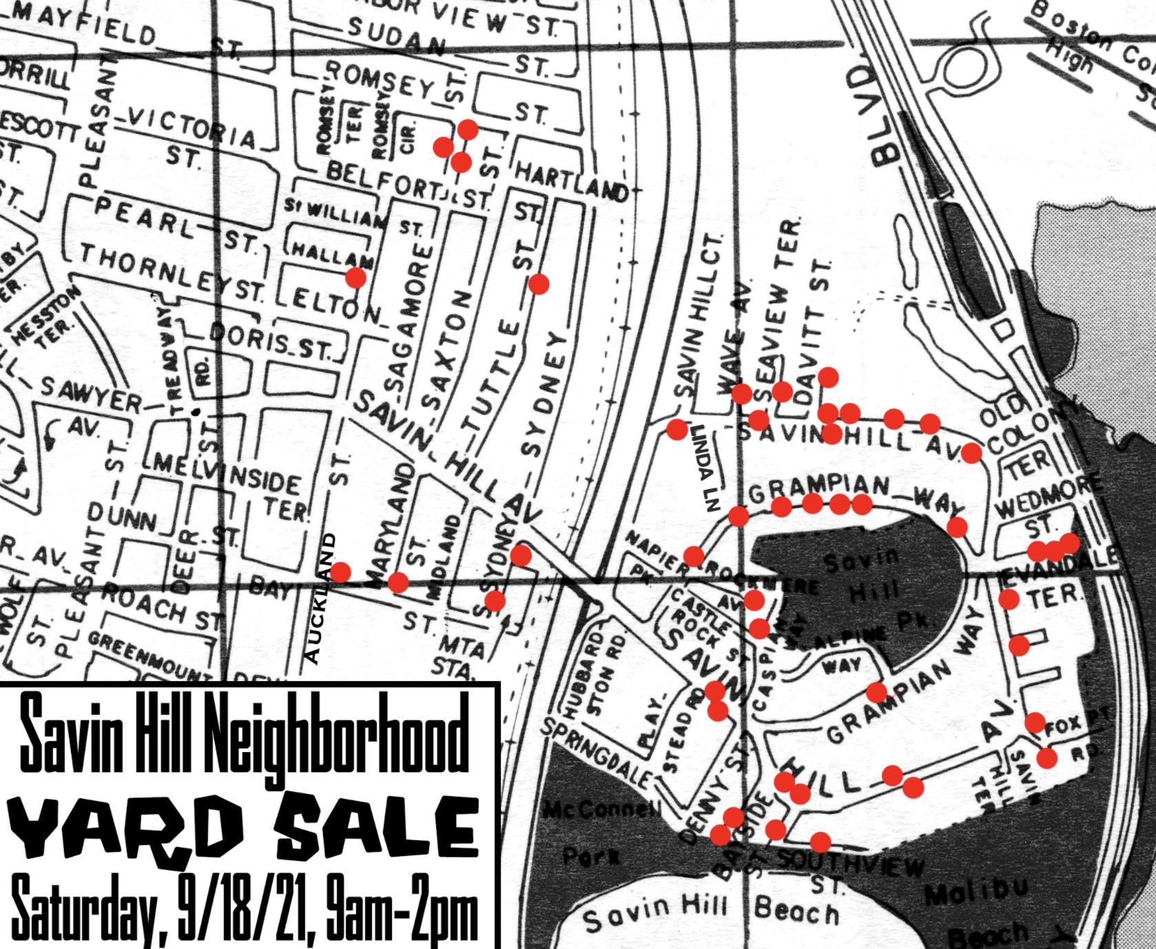 Savin Hill Neighborhood Yard Sale
