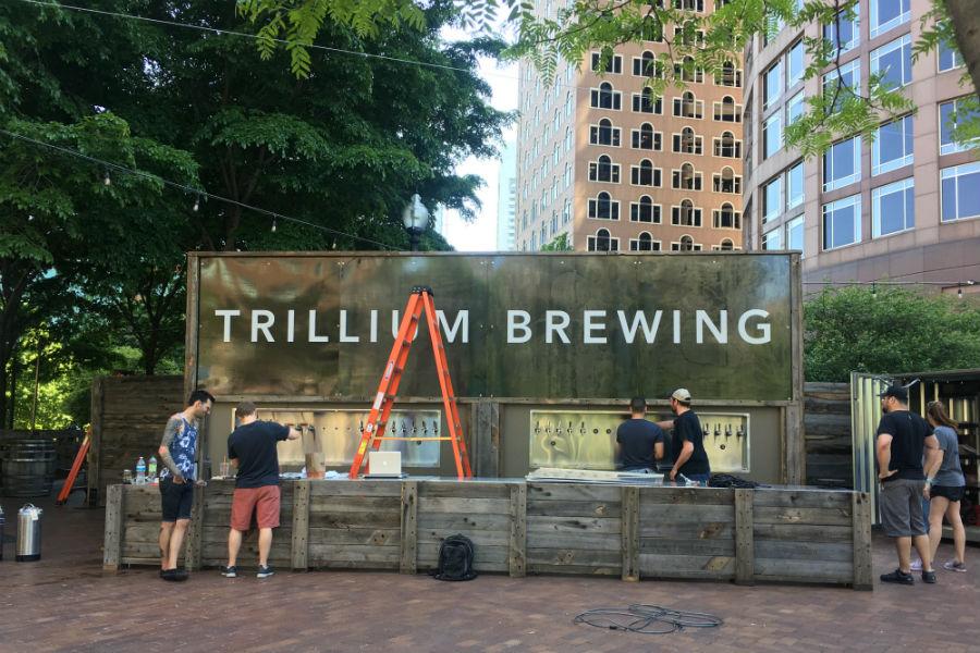 Trillium Beer Garden on the Greenway