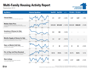 September 2014 Multi-family housing activity