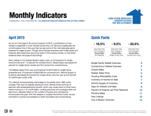 April 2015 Greater Boston Real Estate Market Trends Report