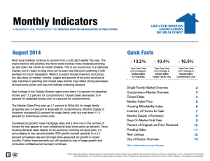 August 2014 Greater Boston Real Estate Market Trends