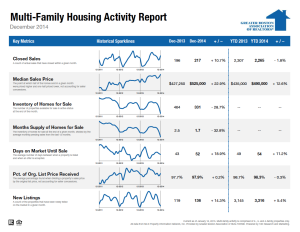 December 2014 Multi-family Housing Activity Report