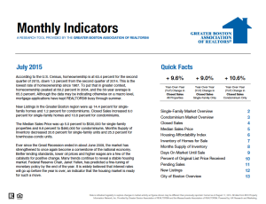 July 2015 Greater Boston Real Estate Market Trends Report