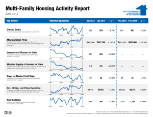 June 2014 Boston Multi-family Housing Activity Report