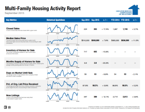 September 2015 Multi-family Housing Activity Report