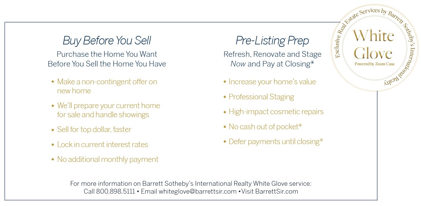 White Glove: Exclusive Real Estate Services by Barrett Sotheby's International Realty