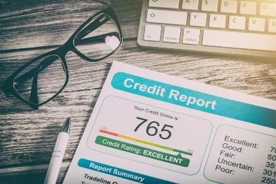 Credit Report Showing Credit Score