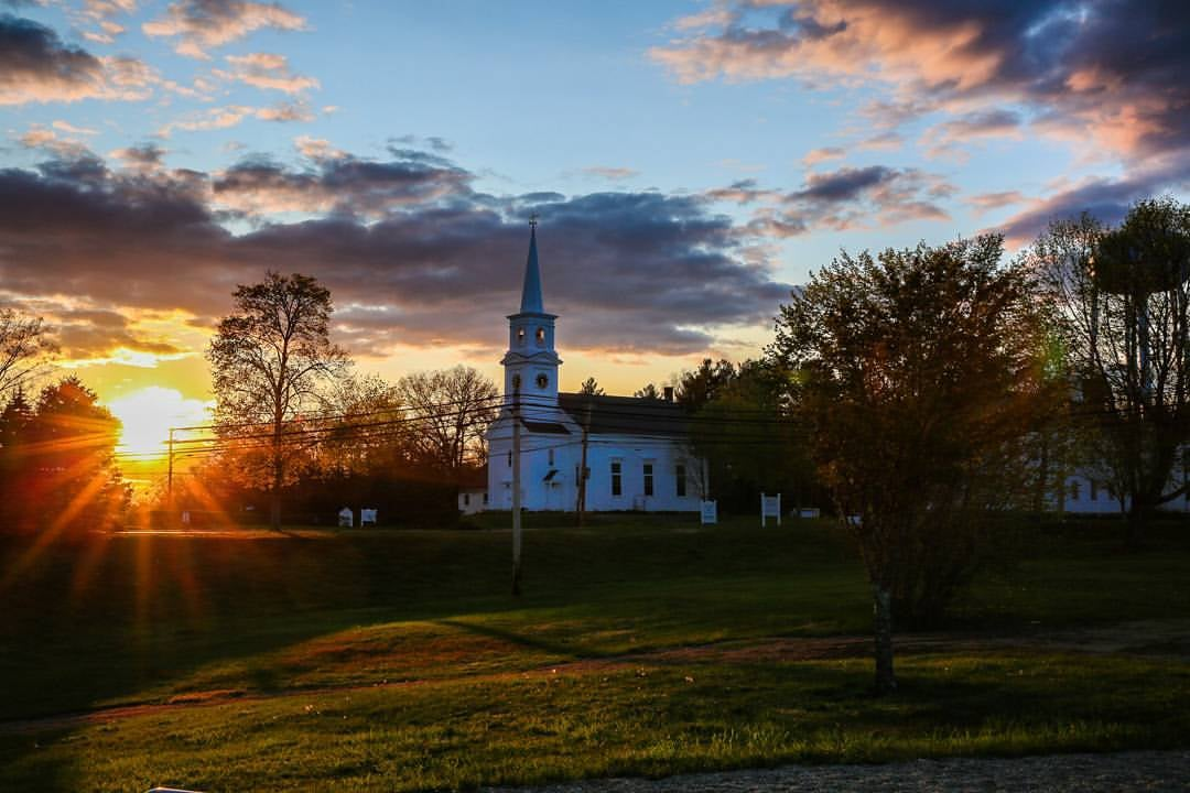 Sunset and church in Halifax