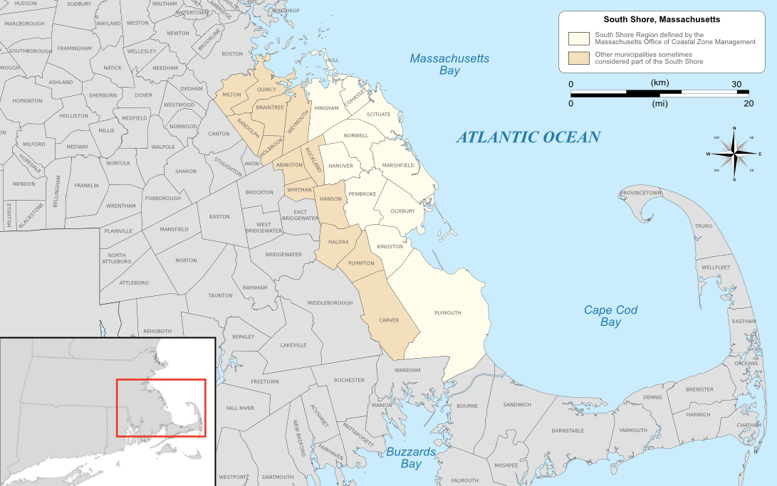 Map of the South Shore