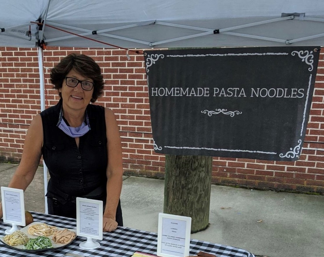 Homemade Pasta Noodles at the market
