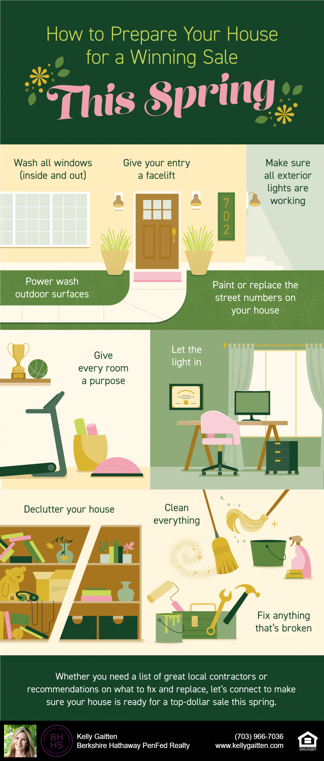 how to prepare your house for a winning sale this spring infographic