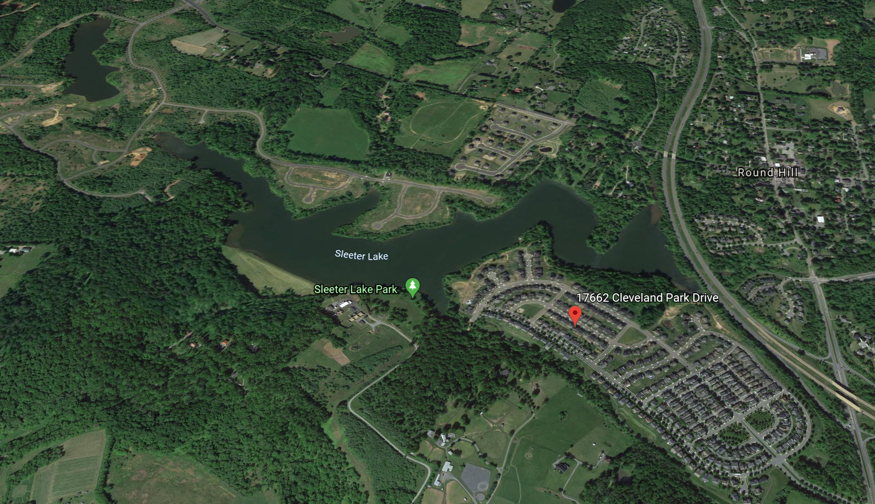Satellite View of Lakepoint in Round Hill VA