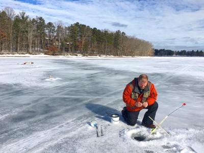 Ice Fishing at Deep Creek Lake