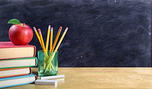 Elementary School Teacher's Desk