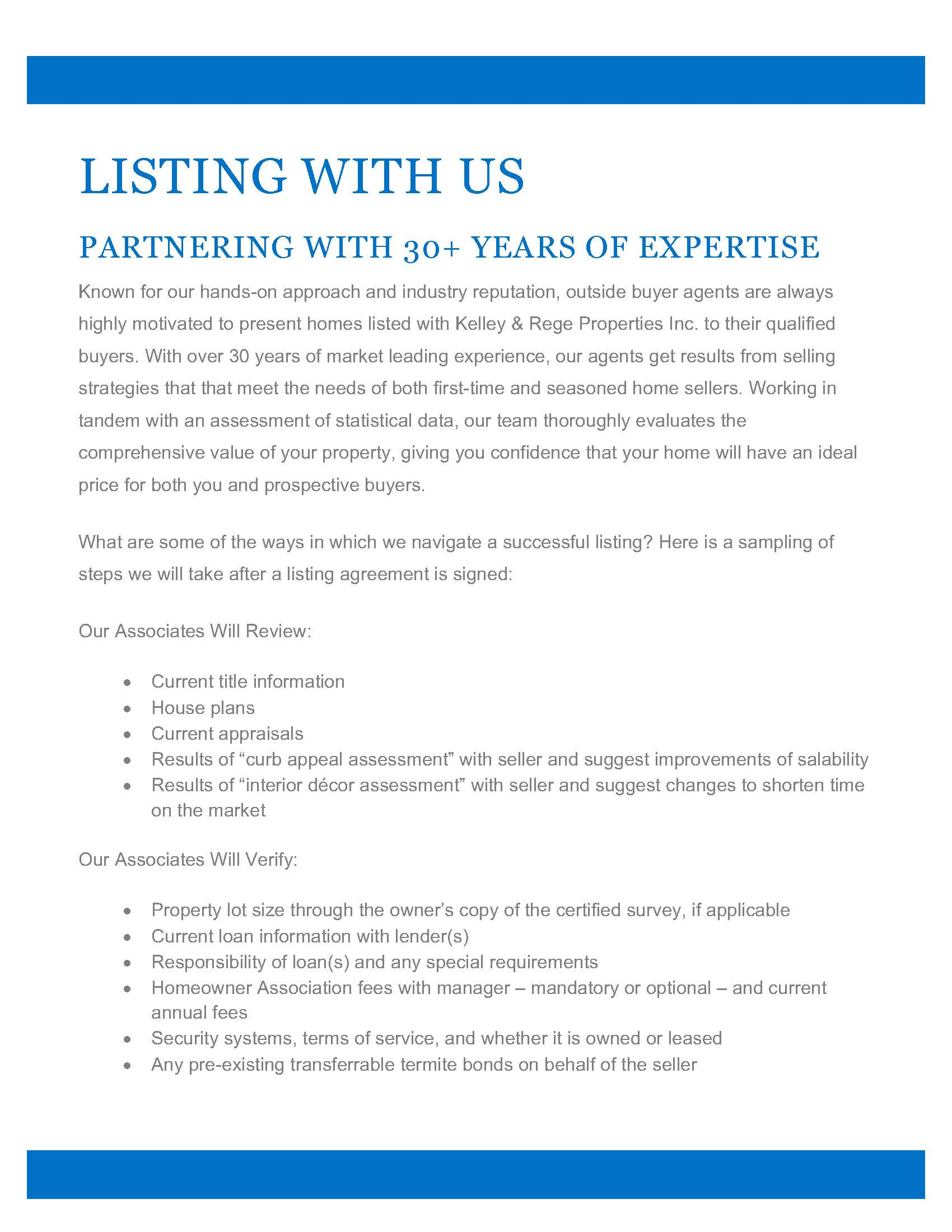 pre-listing documents view