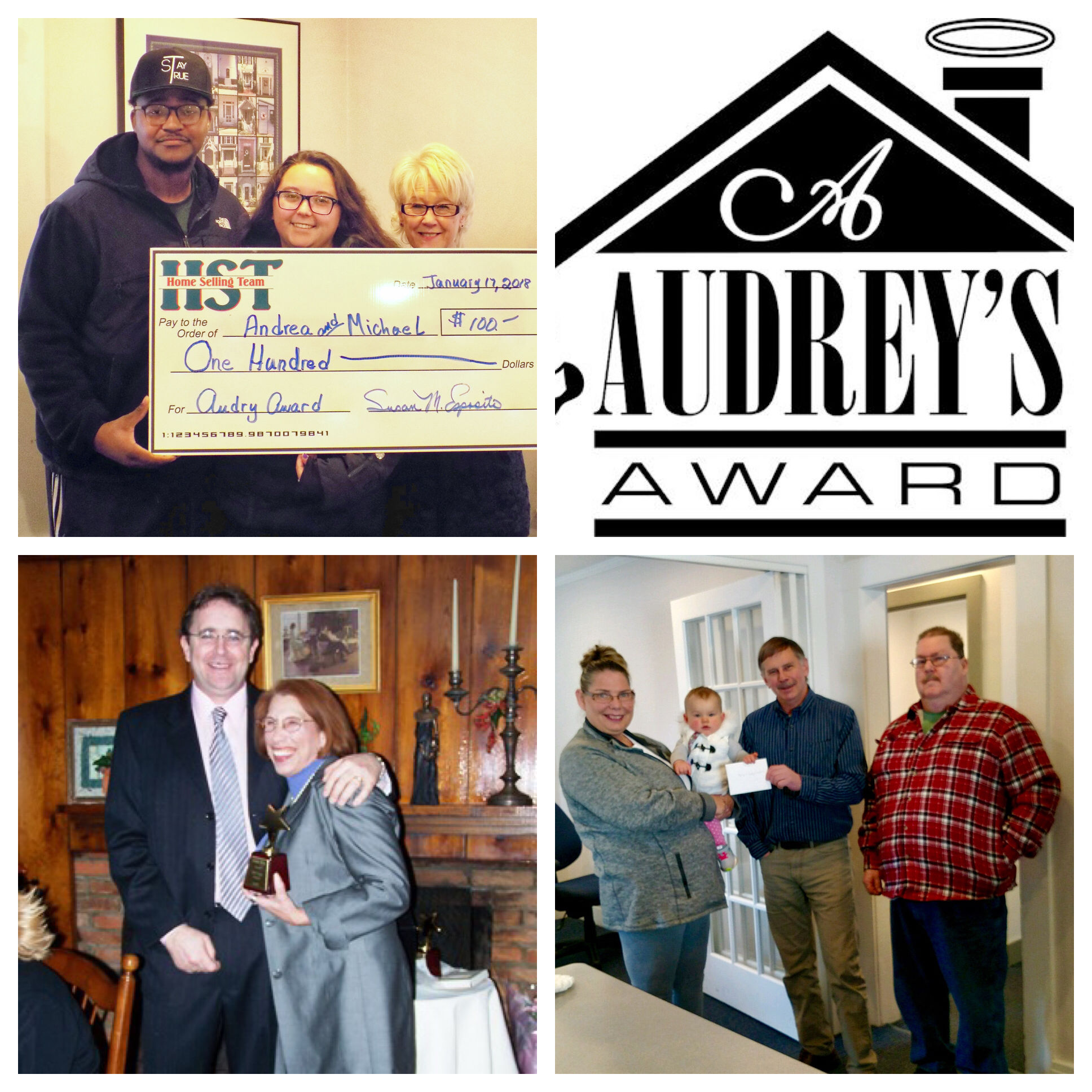 Audrey's Award at Home Selling Team Mansfield CT