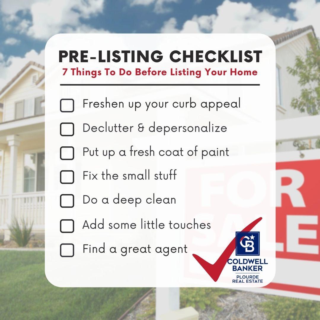 Pre-Listing Checklist