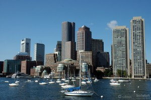 Boston skylines taken from the Charles River 1