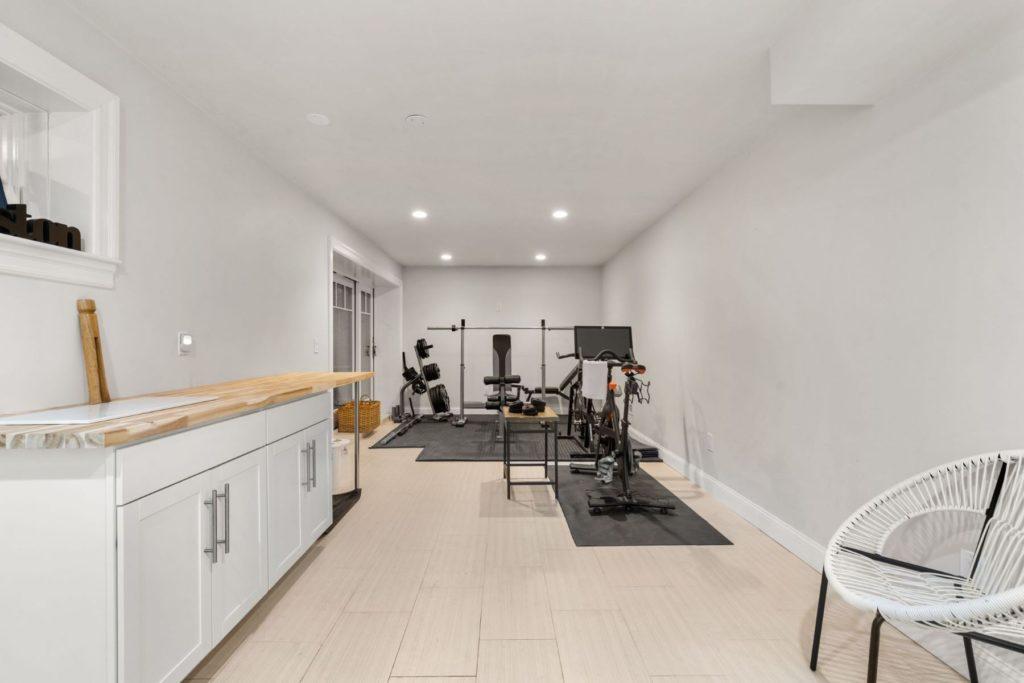 Sleek home gym