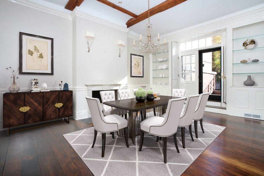 Sleek dining room
