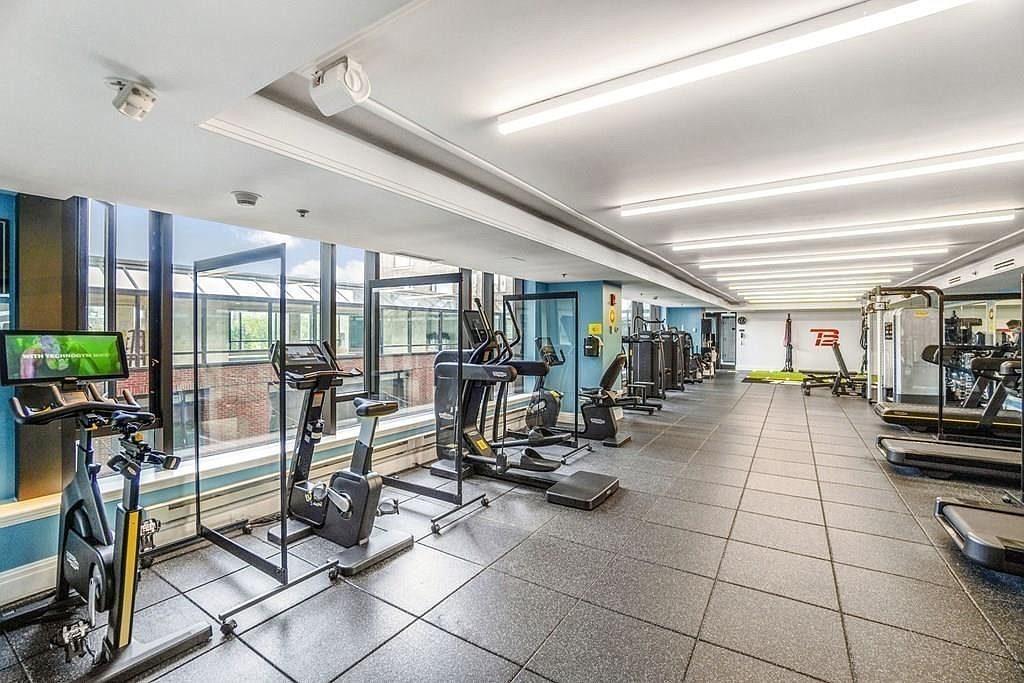 Gym in condo building