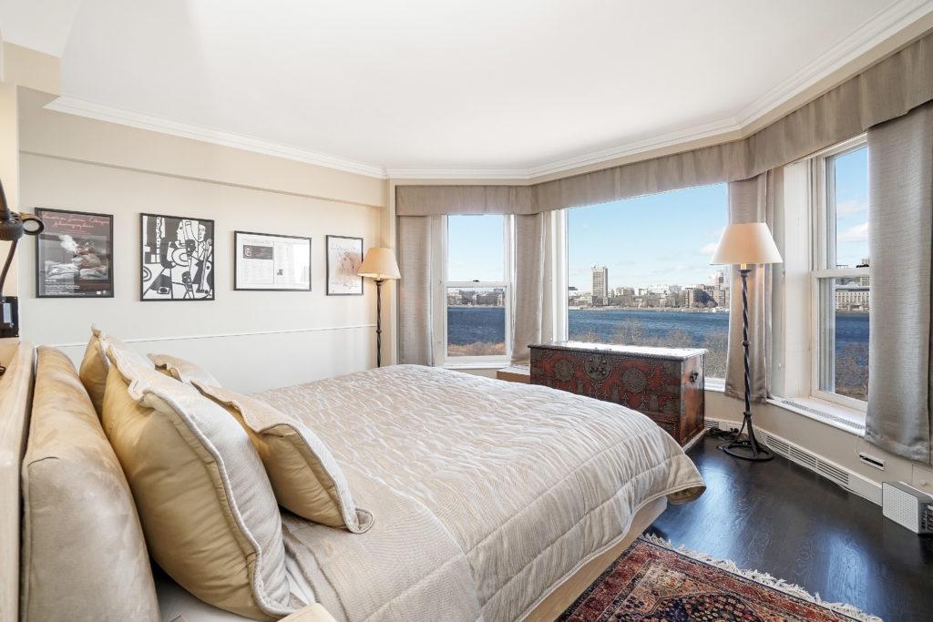 Bedroom view of Boston Harbor