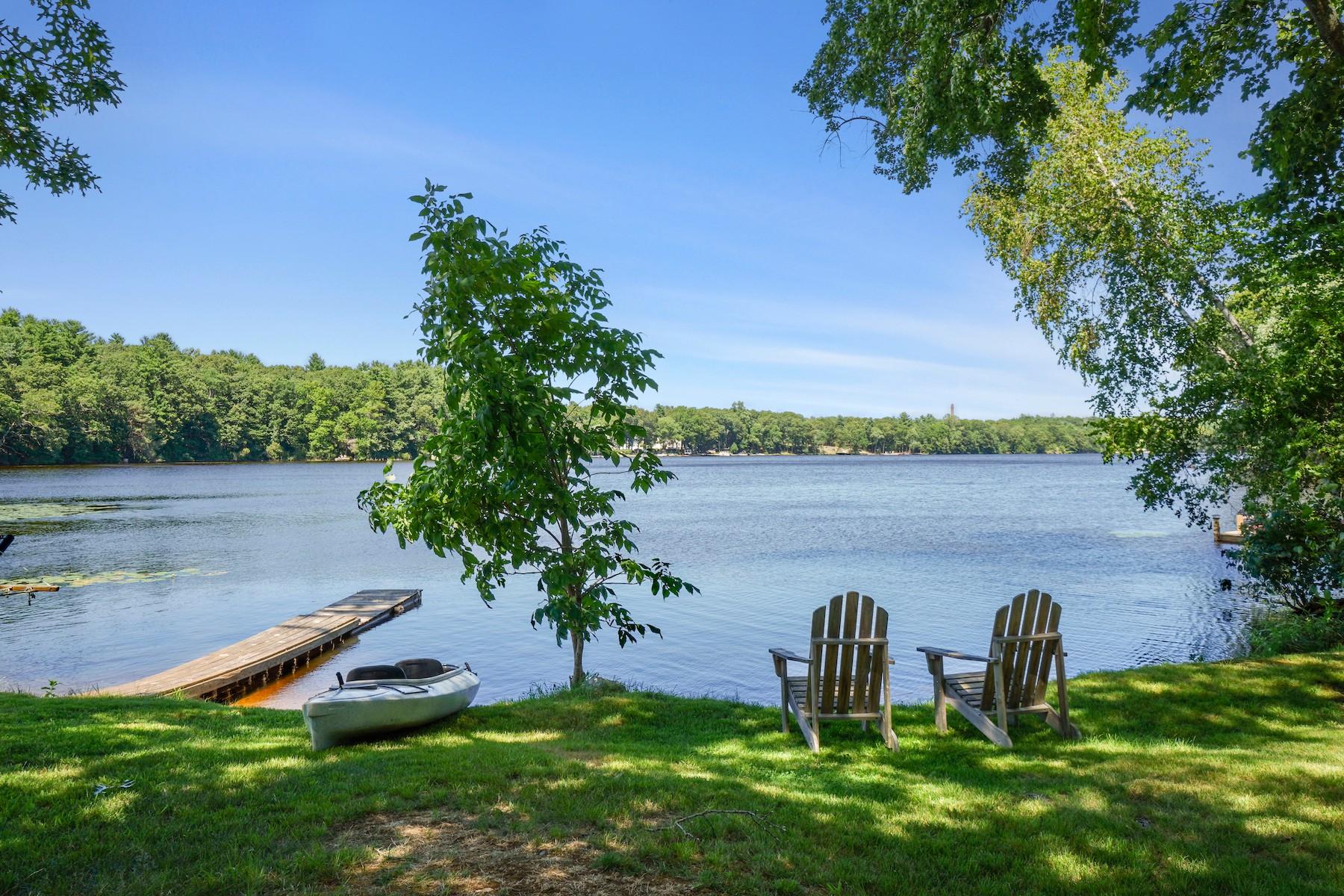 Trek chairs overlooking pond