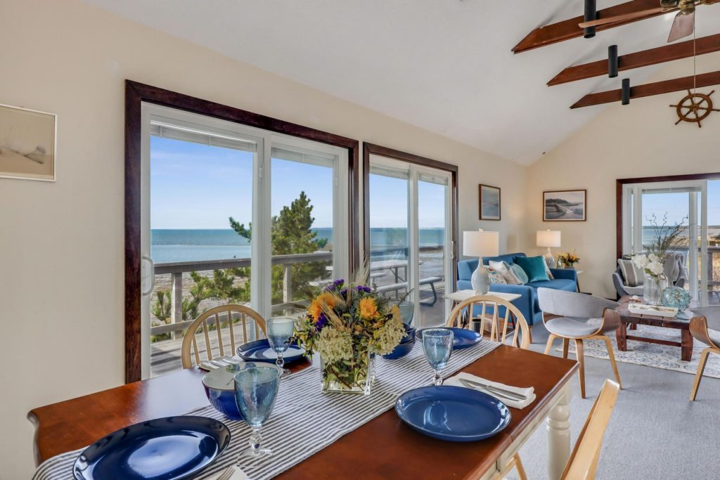 Dining room with ocean view