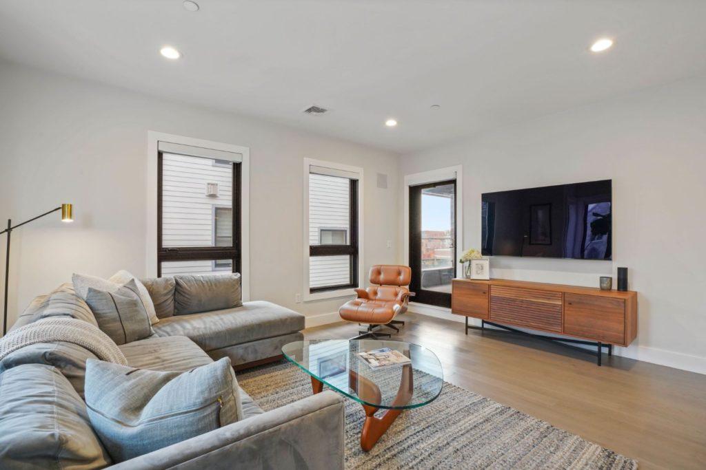 Sleek living area