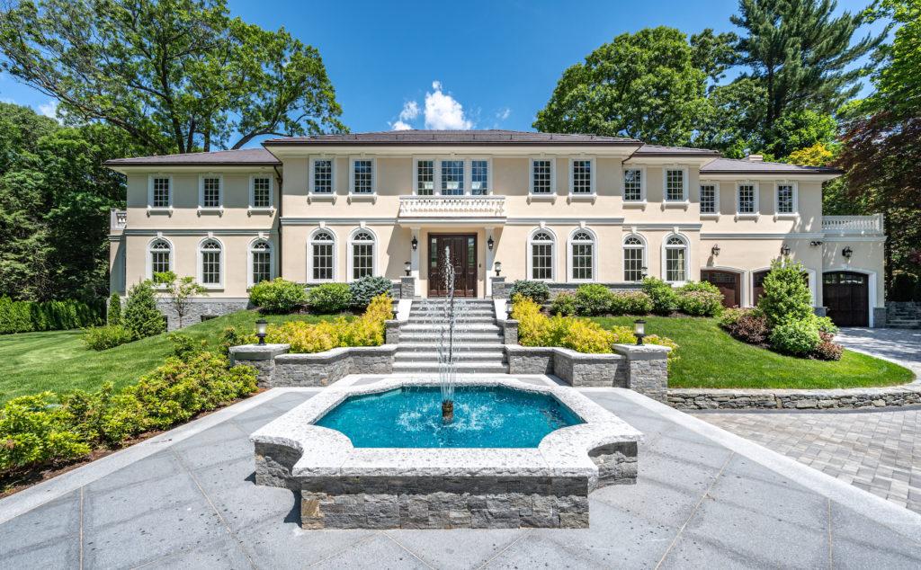 Exterior of grand home