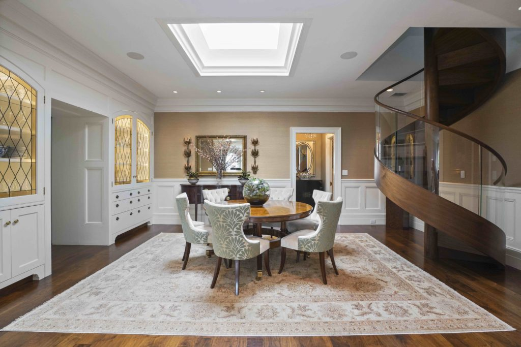 Dining room with skylight