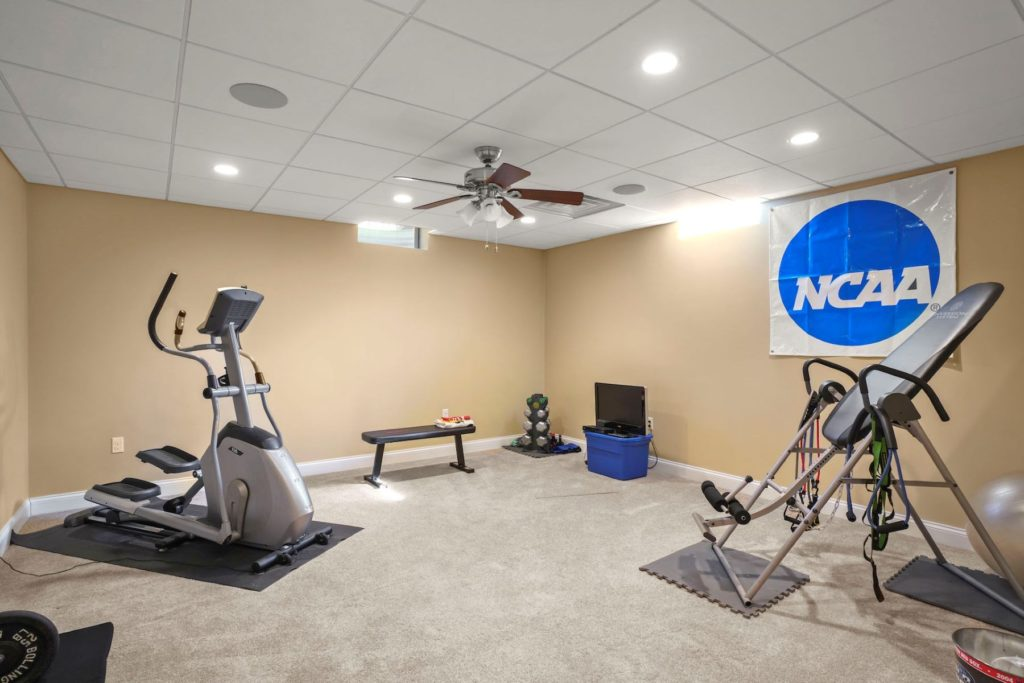 Lower level home gym