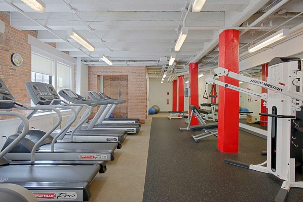Condo building gym in South Boston