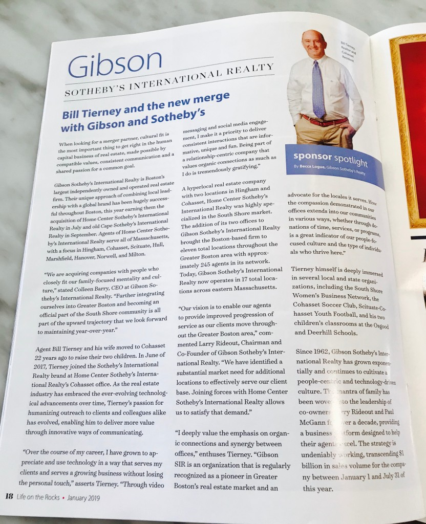Life on the Rocks Magazine_Bill Tierney and the new merge with GSIR_2019 2