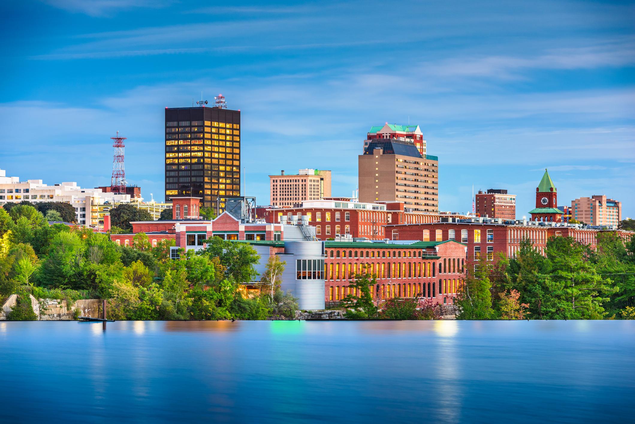 Manchester, New Hampshire skyline