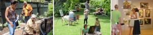 South End Garden Tour, Artists in the Garden, Boston South End, South End Neighborhood, Boston Art, Boston Parks