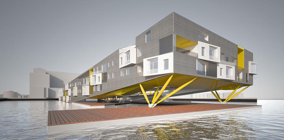 Boston Real Estate, Real Estate News, Floatyard, Perkins + Will, Floating Apartments, Boston Waterfront