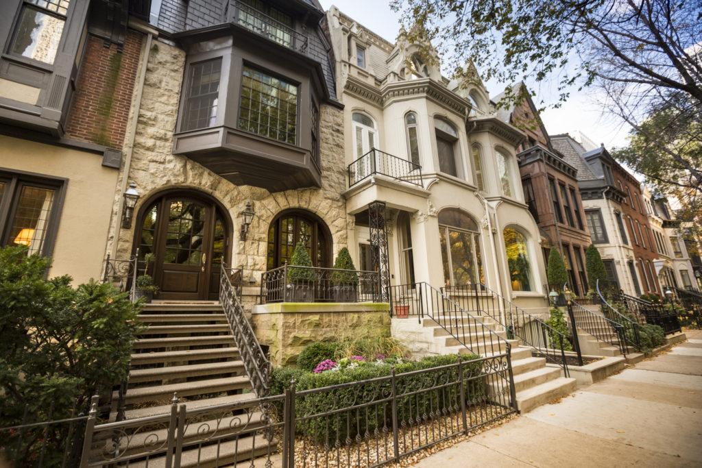 Landmark residential street in Chicago